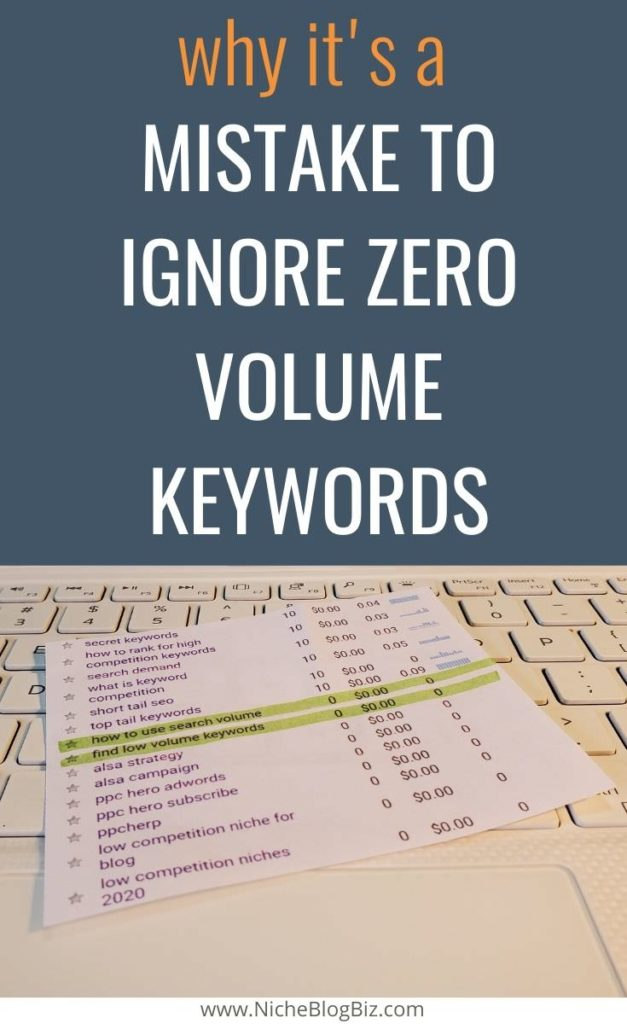 Why it's a mistake to ignore zero volume keywords